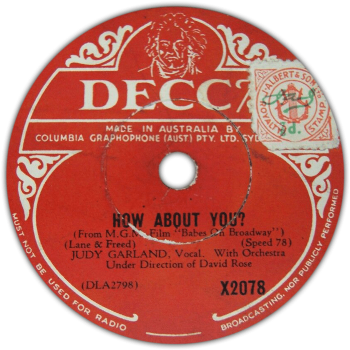 """Decca Australia """"How About You?"""""""