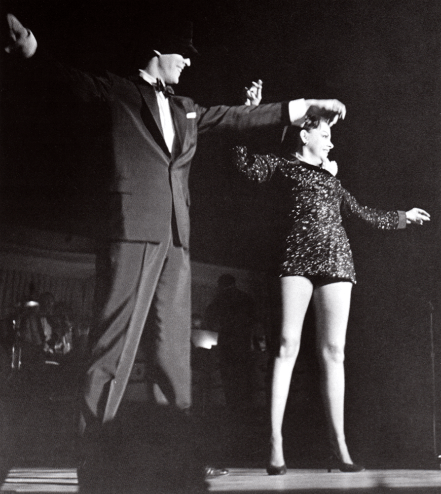 Judy Garland and Bobby Van at the Town and Country 1958