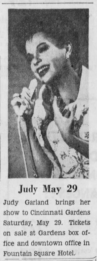 Judy Garland in Cincinnati 1965