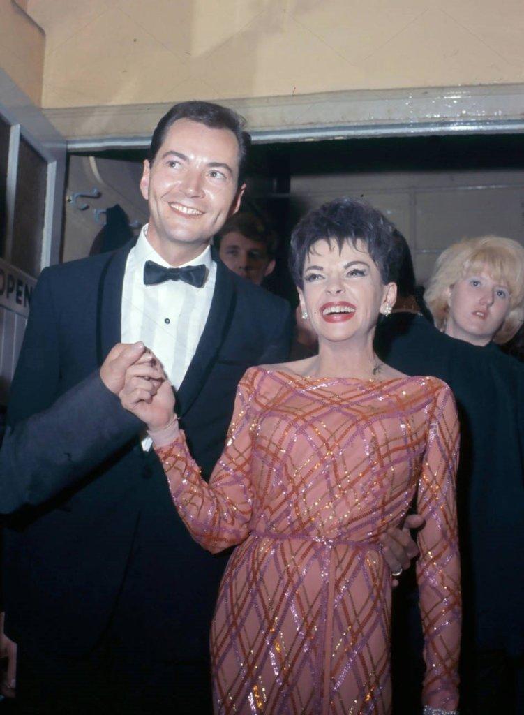 "Judy Garland and Mark Herron at the ""Night of 100 Stars"" July 23, 1964"