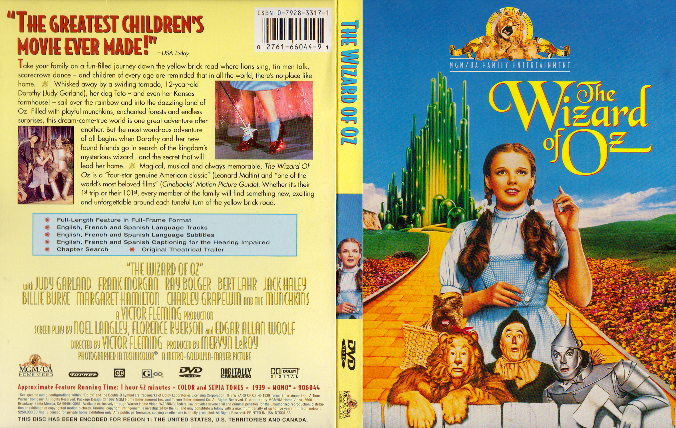 """1997 MGM/UA DVD release of """"The Wizard of Oz"""""""