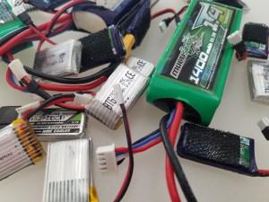 Assorted LiPo batteries