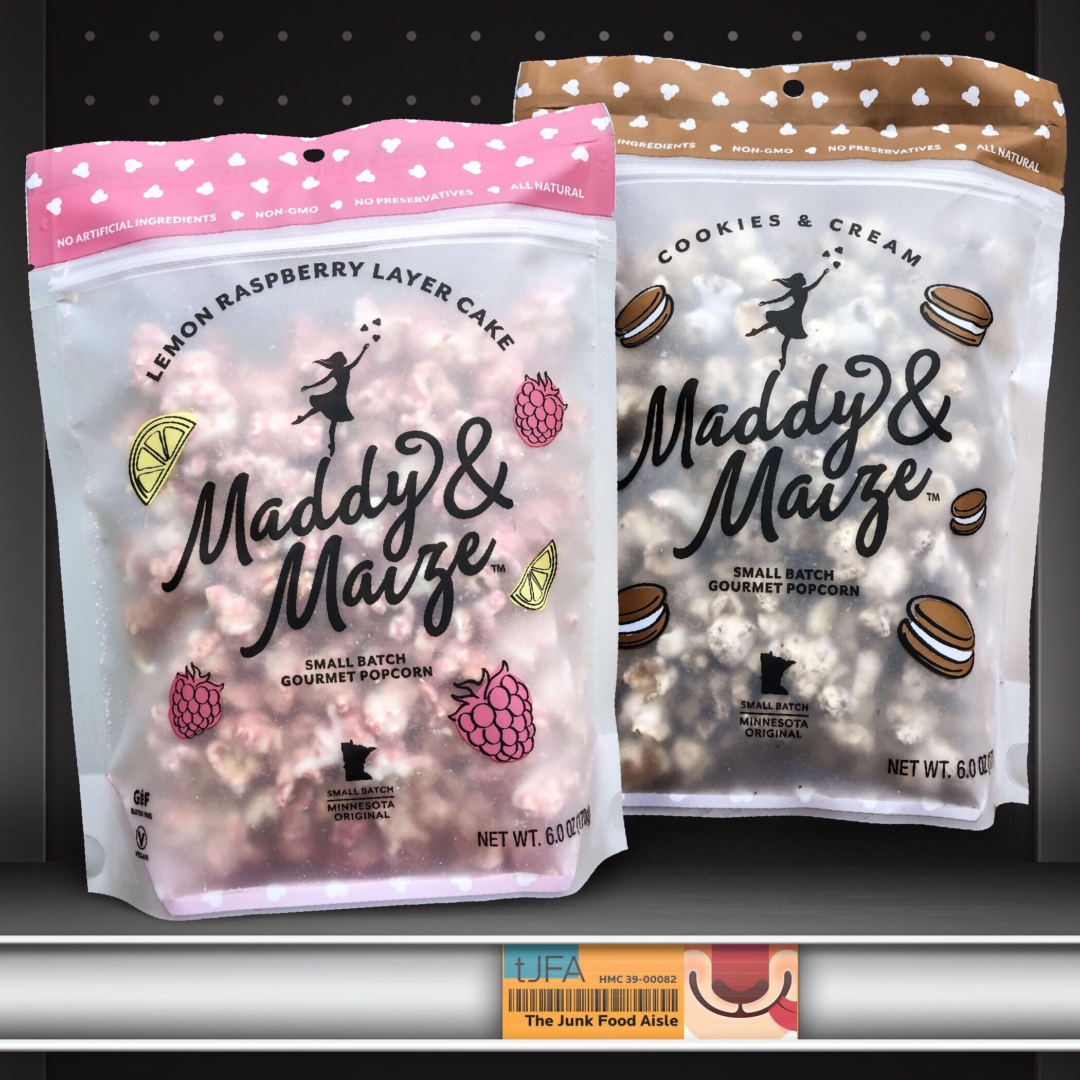 Maddy & Maize Lemon Raspberry Layer Cake and Cookies & Cream Popcorn
