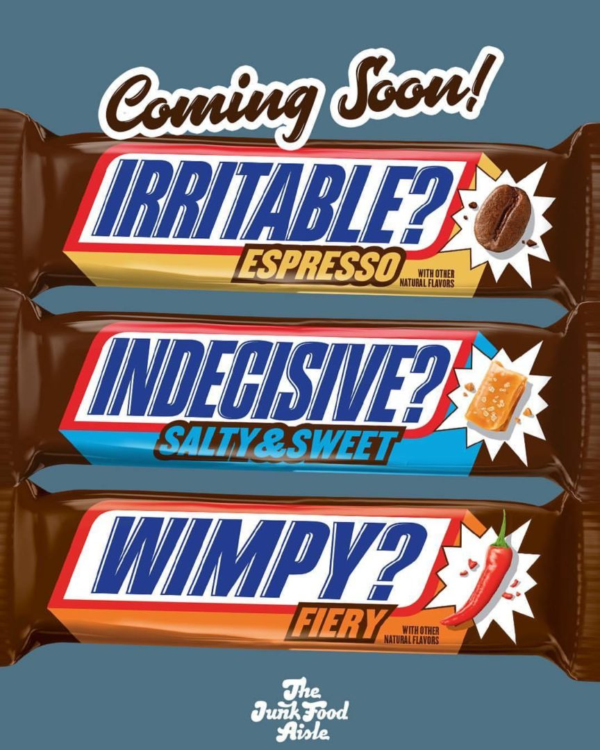 Coming Soon: Snickers Espresso, Fiery, and Salty & Sweet