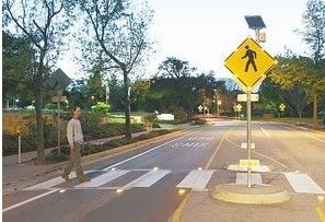 City officials say in-ground flashing lights may help save pedestrian lives.