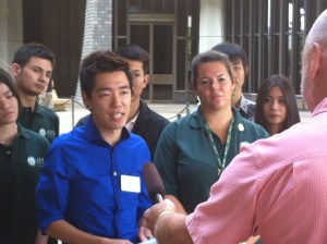 UH student leaders gather outside the Capitol Monday