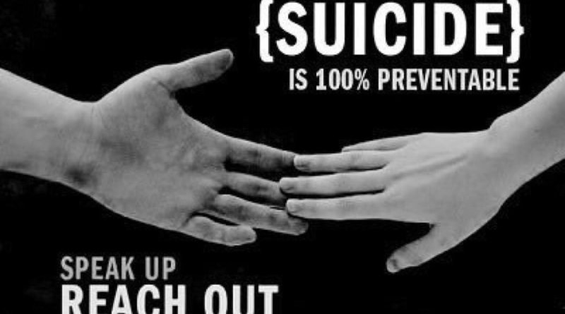 Suicide prevention workshop 11:30 today in library
