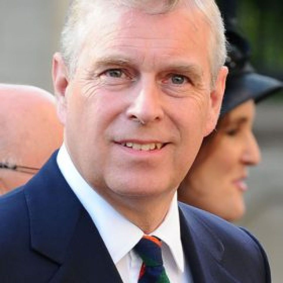 Prince Andrew, Duke of York (2014) Northern Ireland Office - https://www.flickr.com/photos/niogovuk/14649728080/ HRH The Duke of York arriving at a service of remembrance at St Anne's Cathedral, Belfast to mark the centenary of the start of the First World
