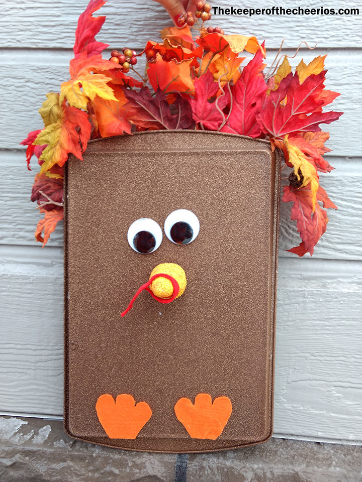 Thanksgiving Turkey Cookie Sheet Door Hang The Keeper Of