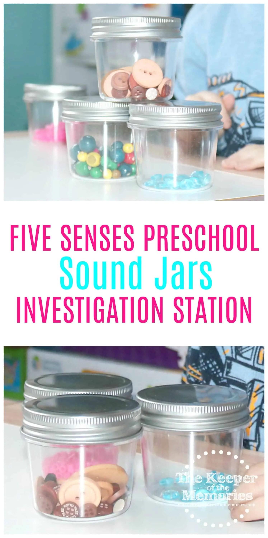Five Senses Preschool Sound Jars 2