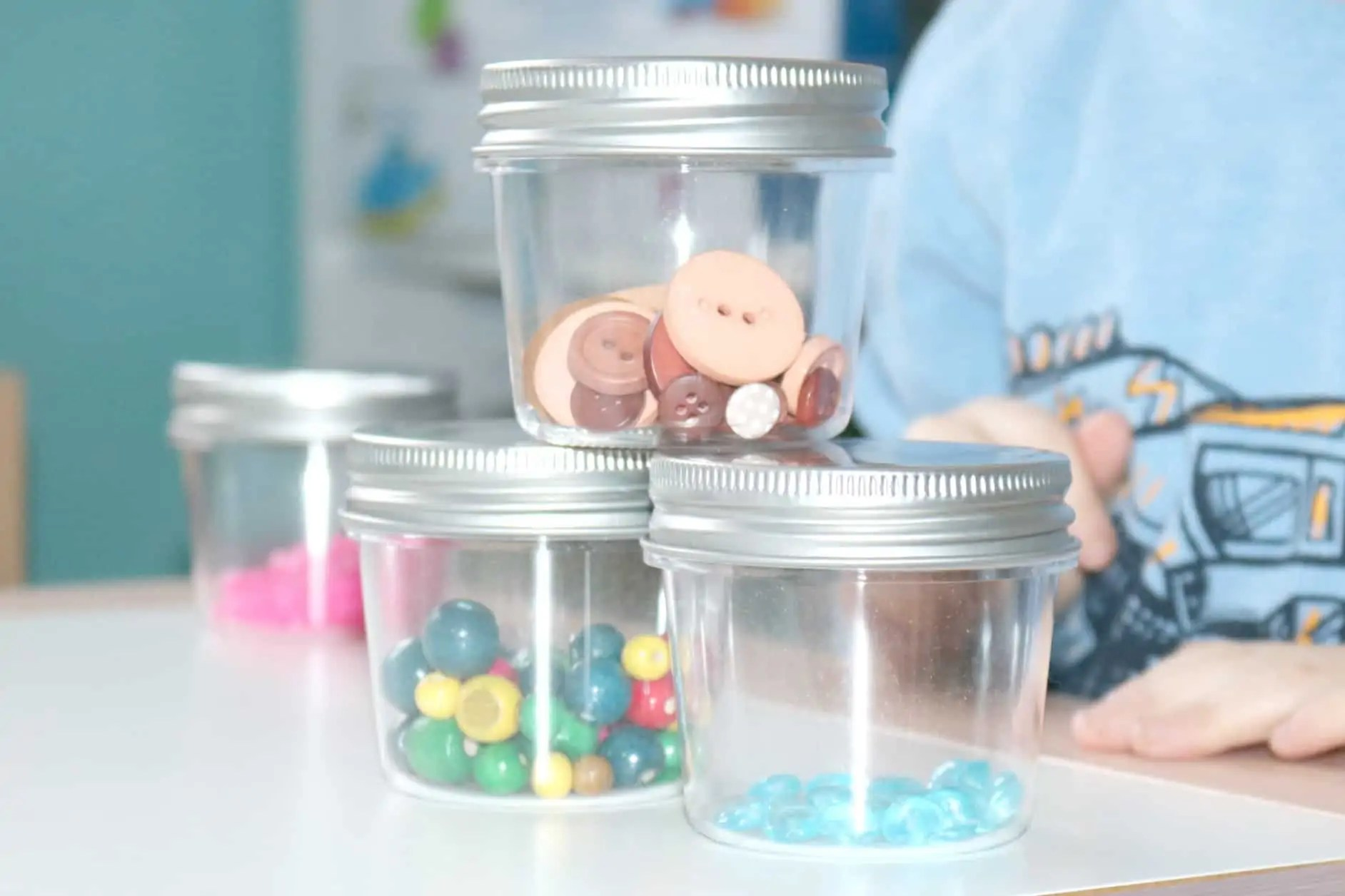 Five Senses Preschool Sound Jars Investigation Station
