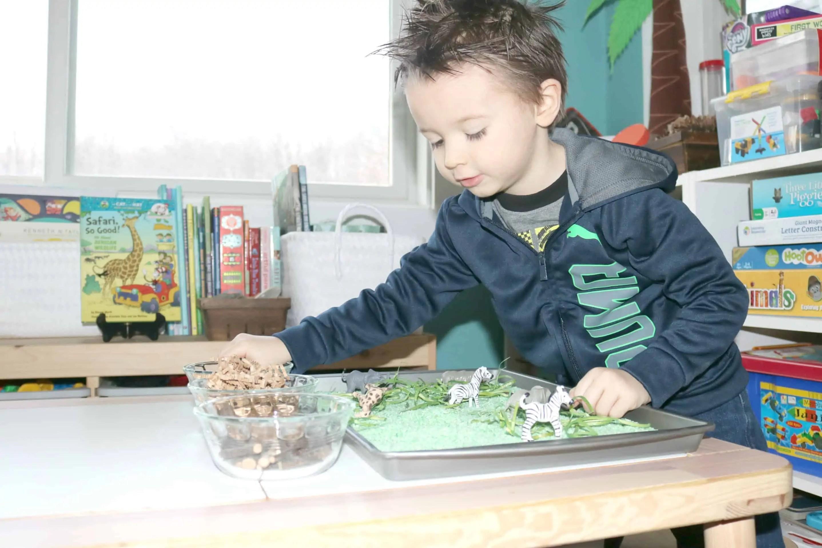 Preschool Safari Theme Activities Sensory Habitat