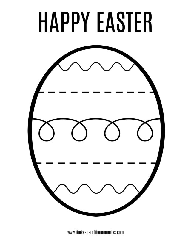 Free Printable Easter Coloring Sheet for Little Kids - The Keeper