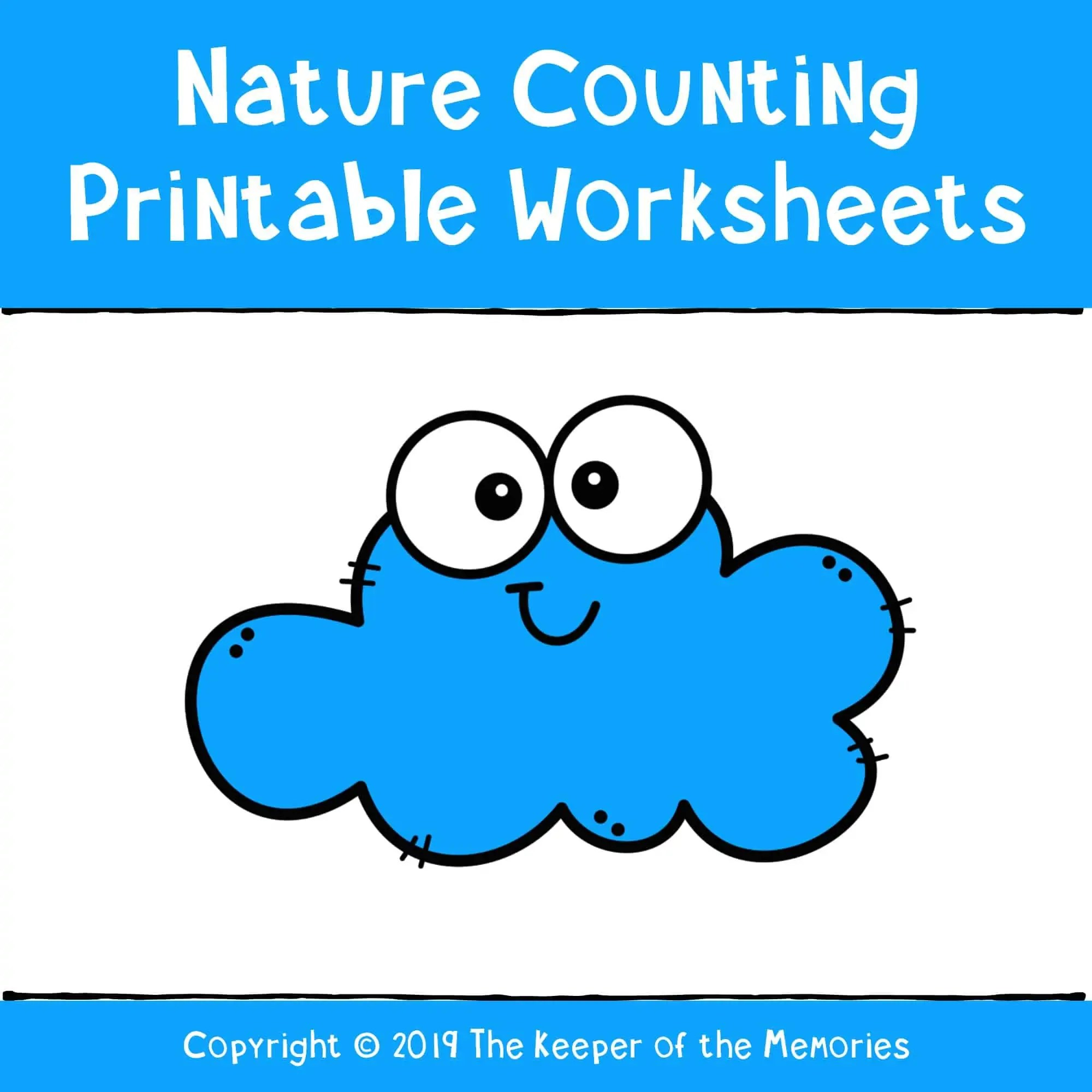 Nature Counting Printable Worksheets Cover