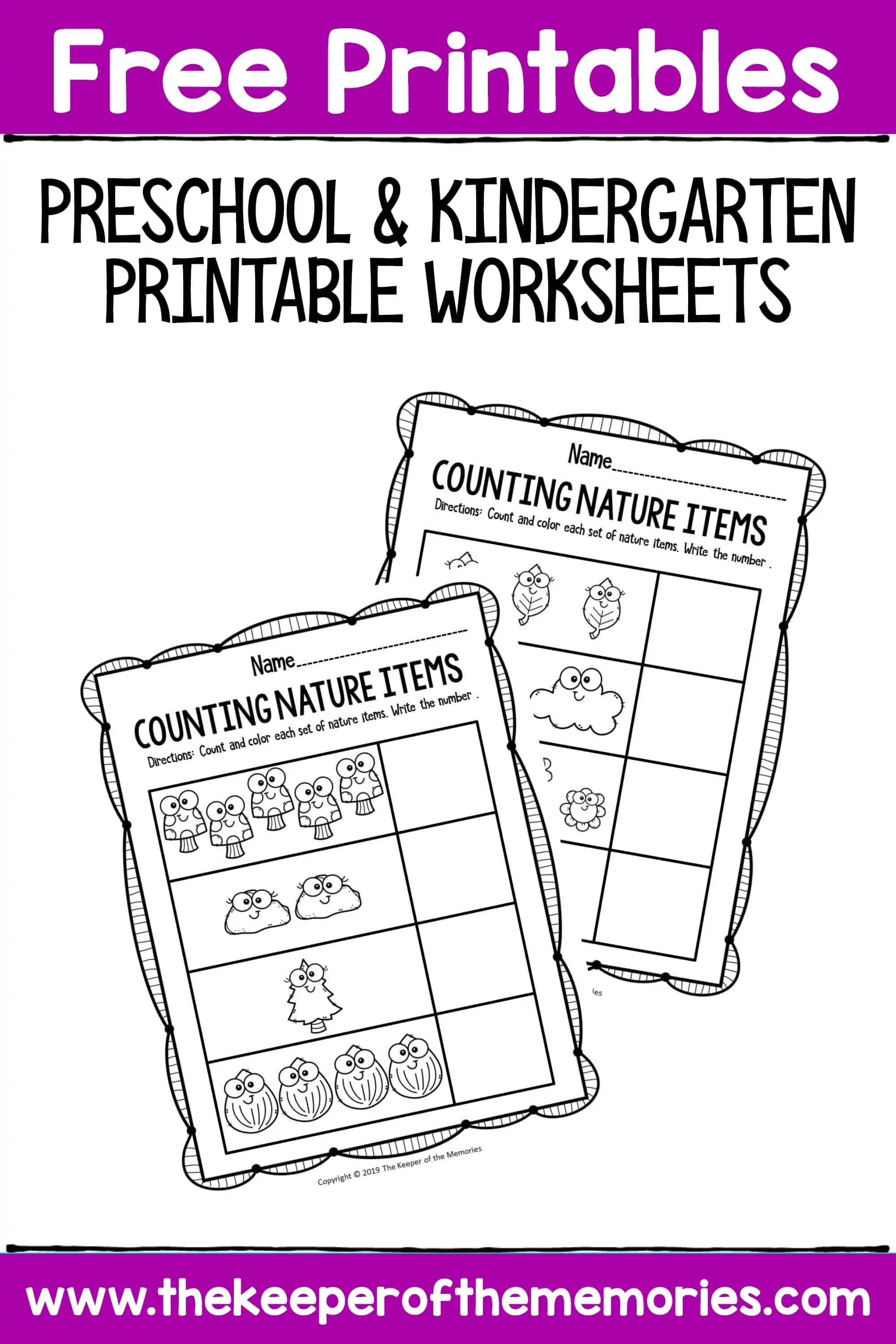 Free Printable Preschool And Kindergarten Worksheets