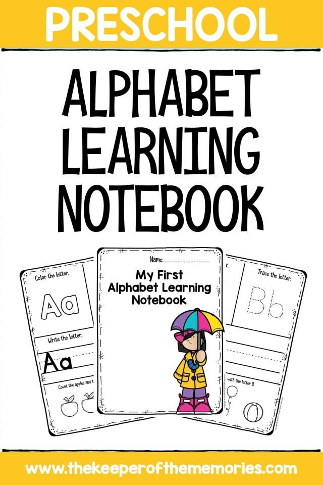 Notebook Letters Preschool Worksheets