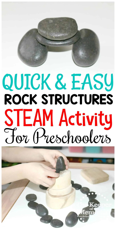 Rock Structures Steam Activity For Preschoolers