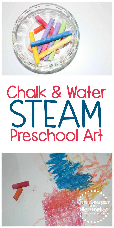 Chalk Amp Water Steam Preschool Art