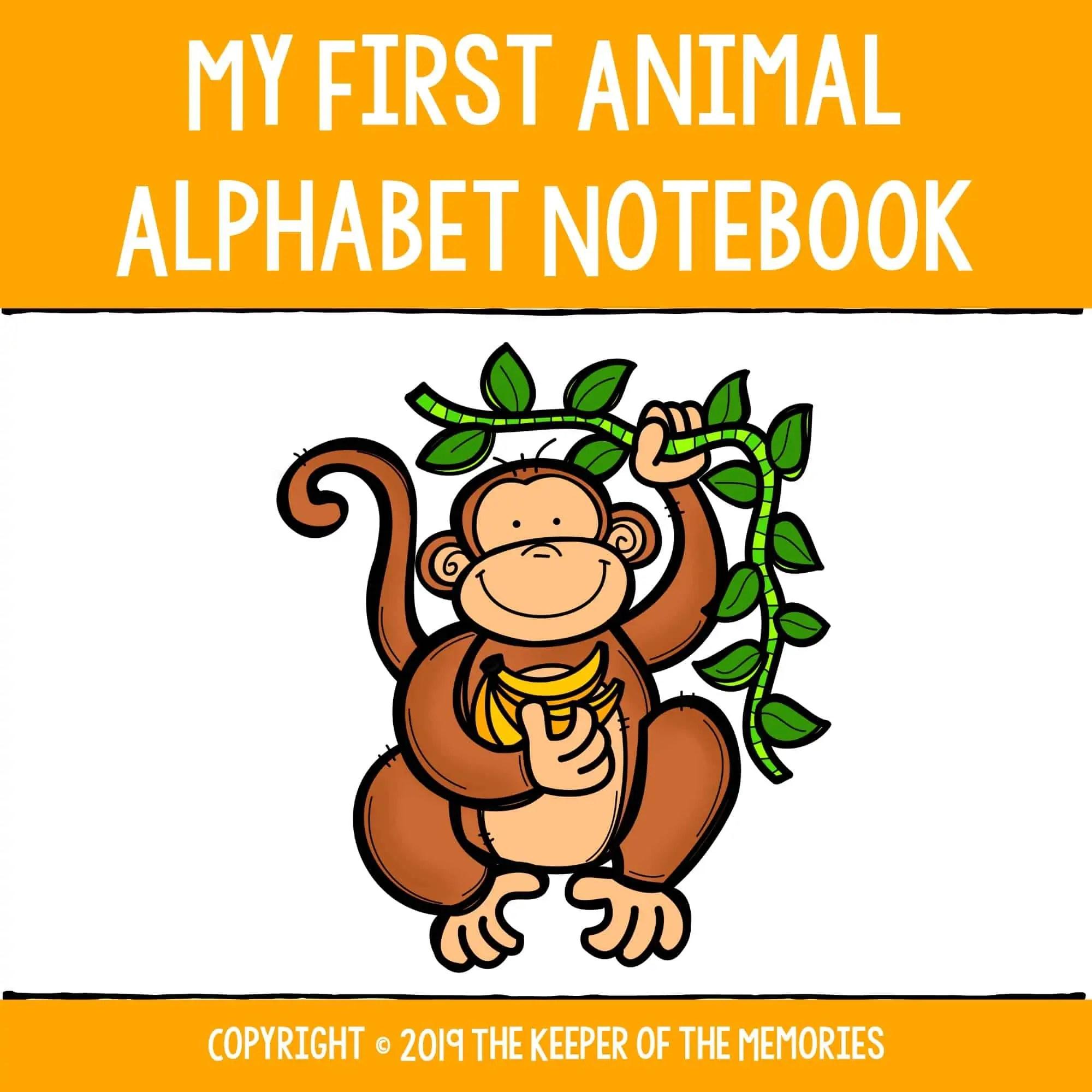 Preschool Worksheets My First Animal Alphabet Notebook