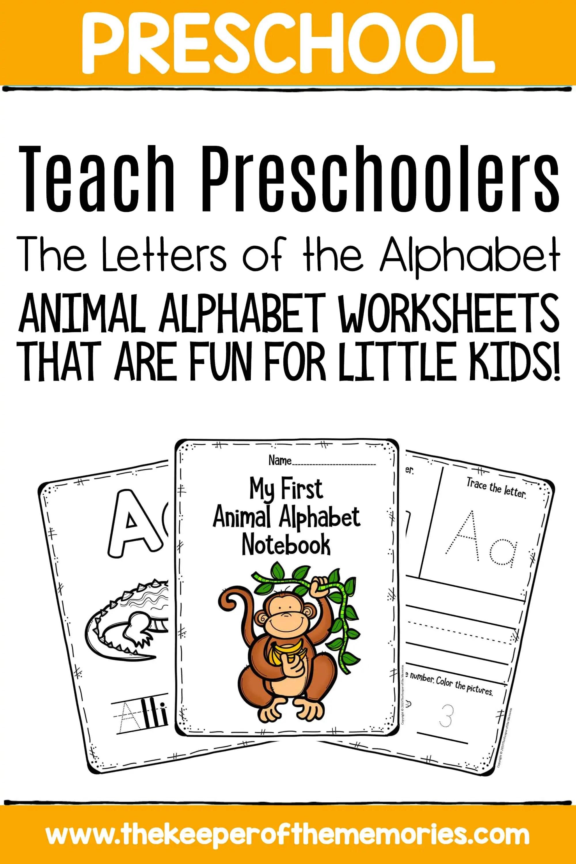 Preschool Worksheets Teach Preschoolers The Letters Of The