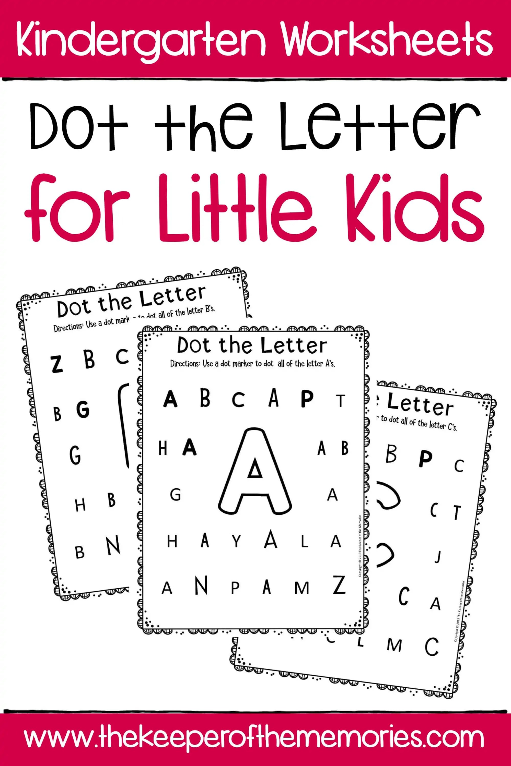 Dot The Letter Alphabet Kindergarten Worksheets For Little