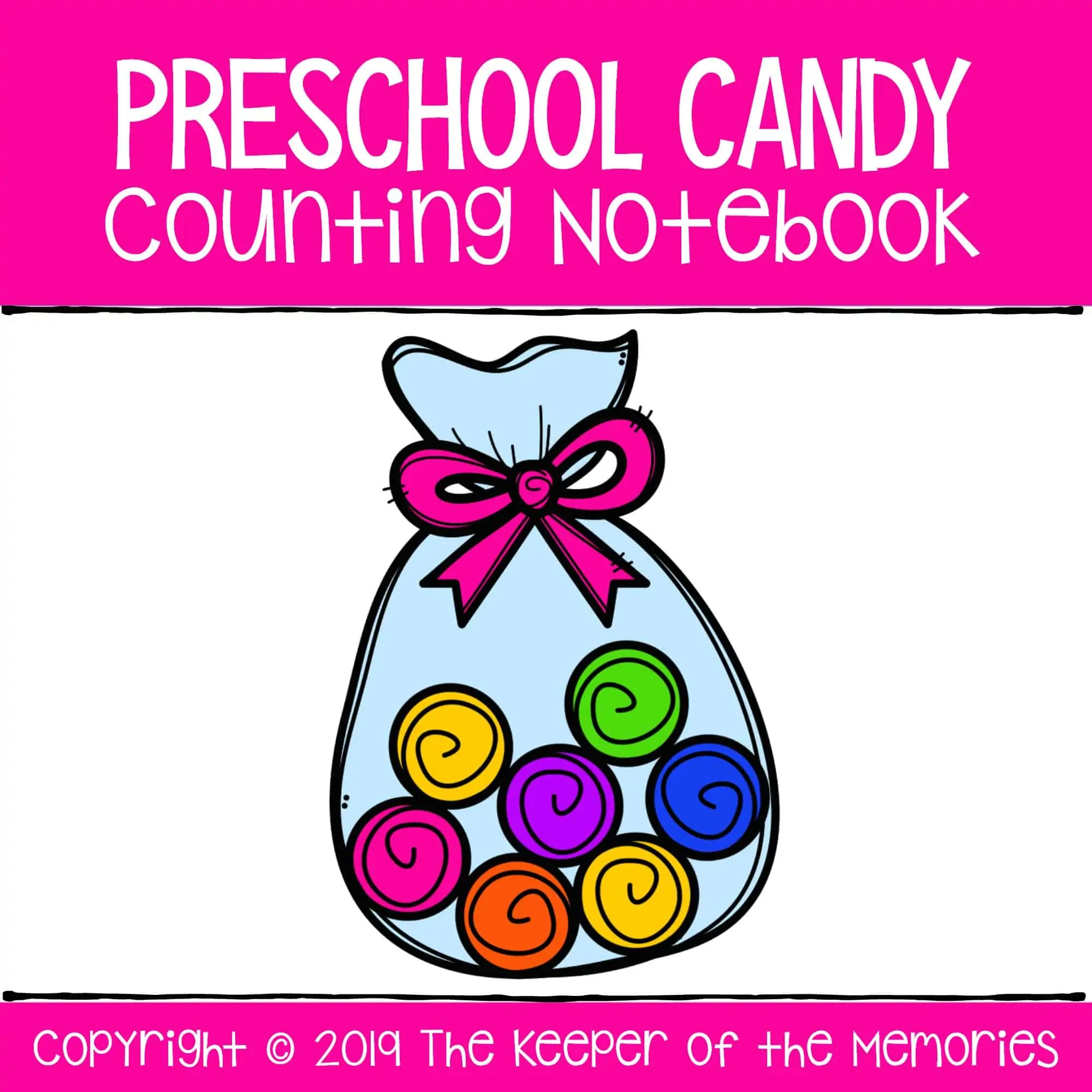 Preschool Candy Counting Notebook Number Worksheets