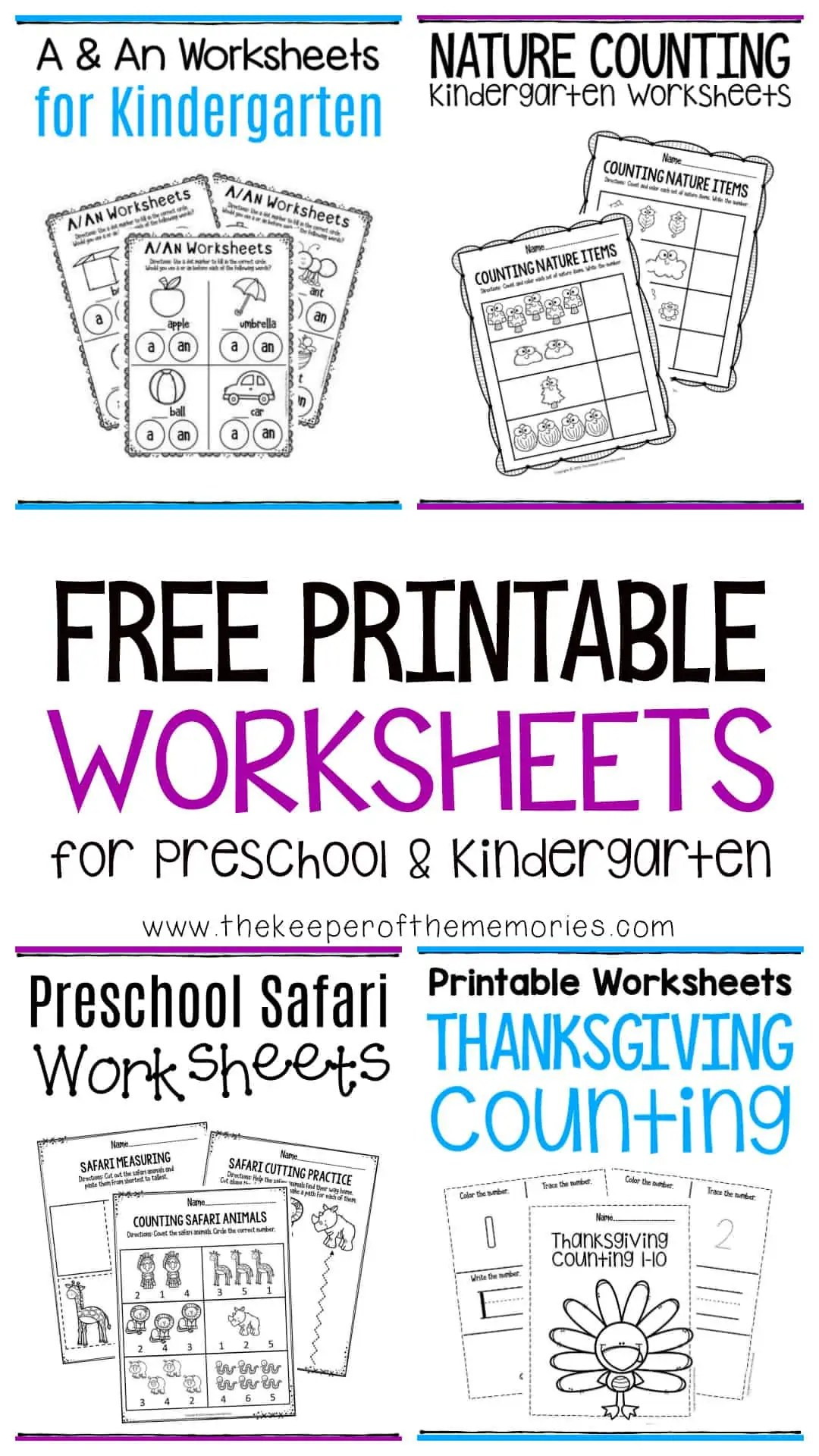 Free Printable Worksheets For Preschool Amp Kindergarten