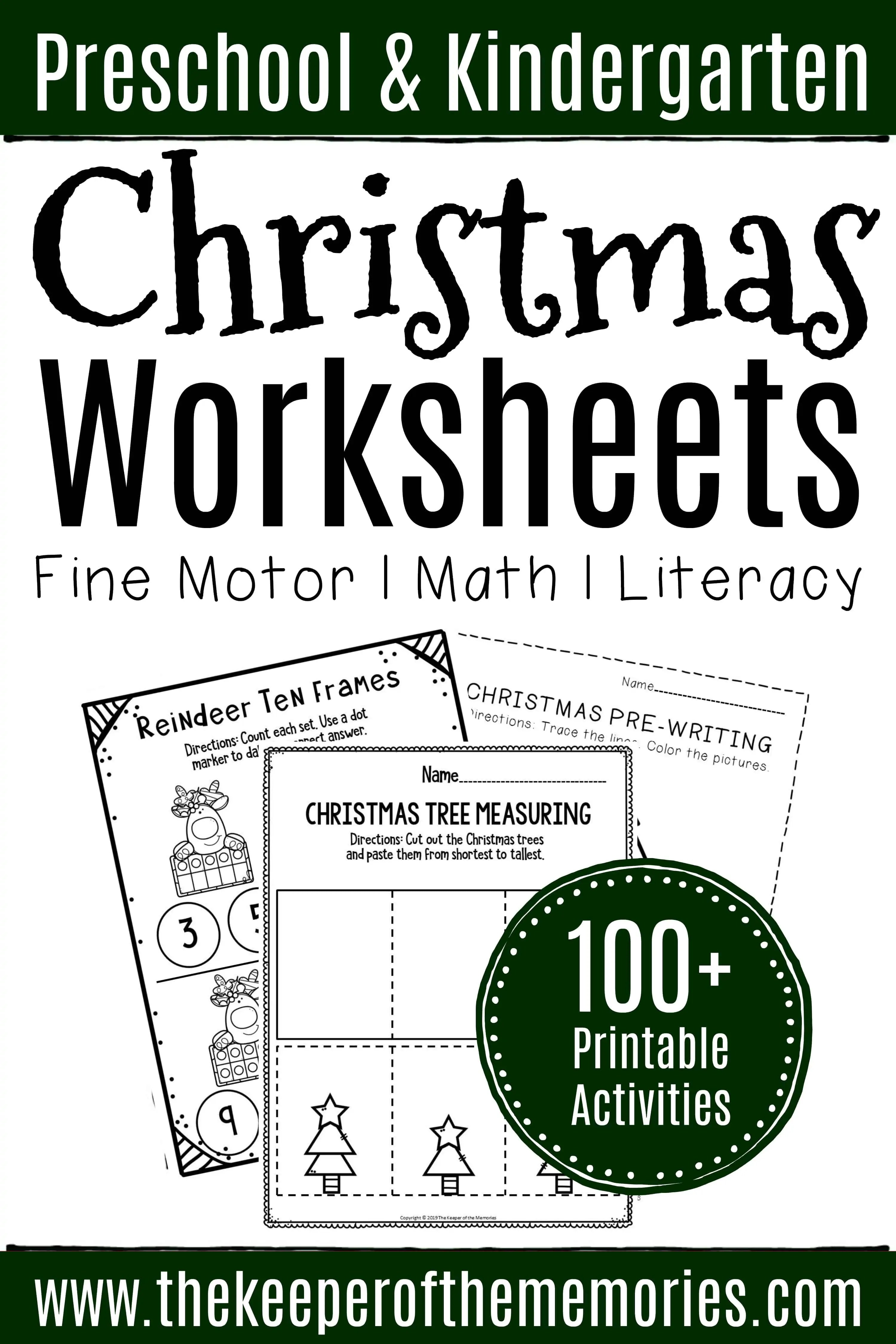 100 Christmas Worksheets For Preschoolers