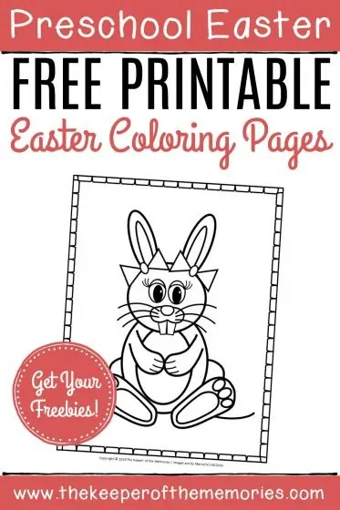 Free Printable Easter Bunny Coloring Pages The Keeper Of The Memories