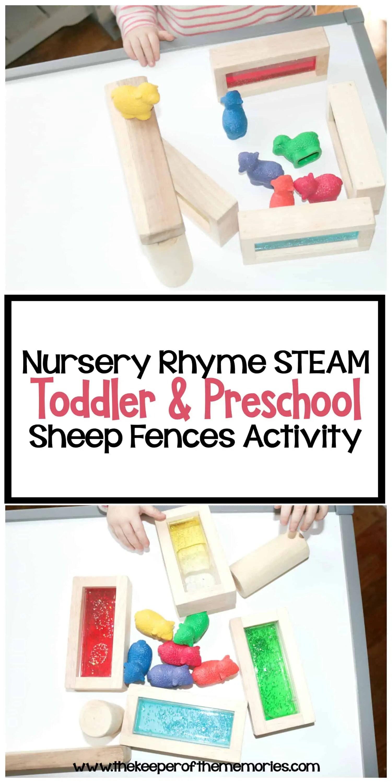 Nursery Rhyme Steam Toddler Amp Preschool Sheep Fences