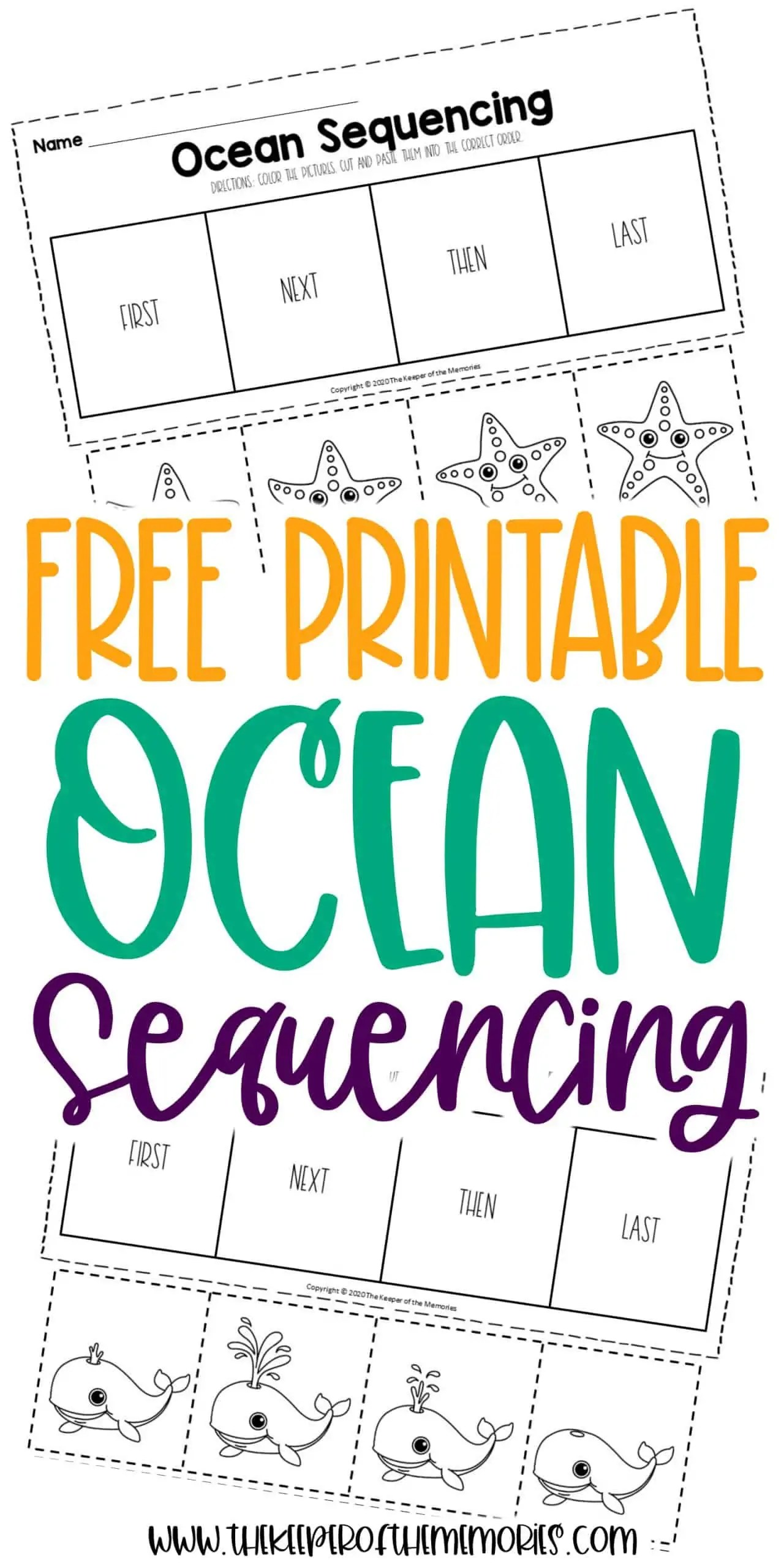 Free Printable Ocean Sequnecing Worksheets