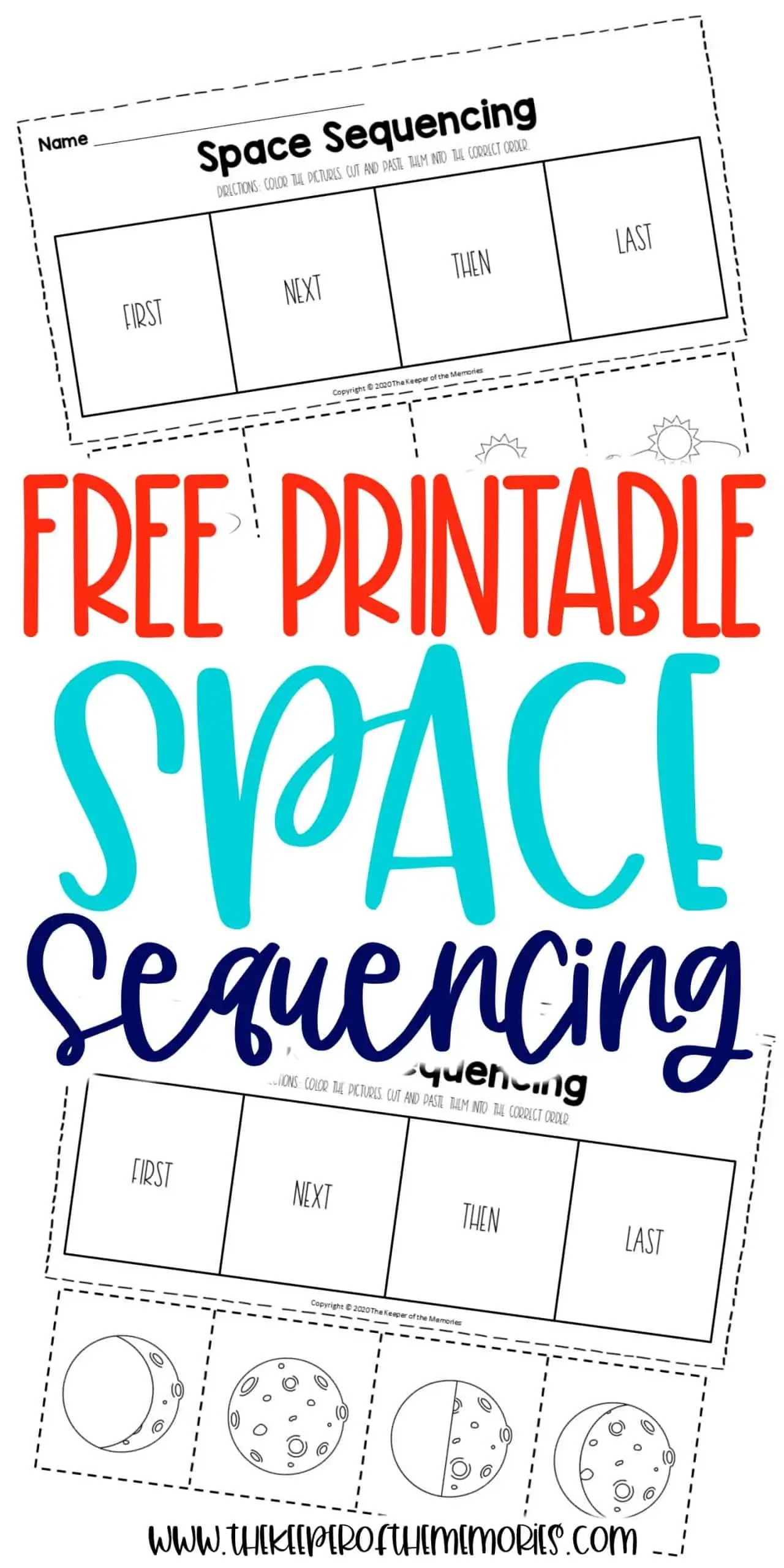 Free Printable Space Sequencing Worksheets