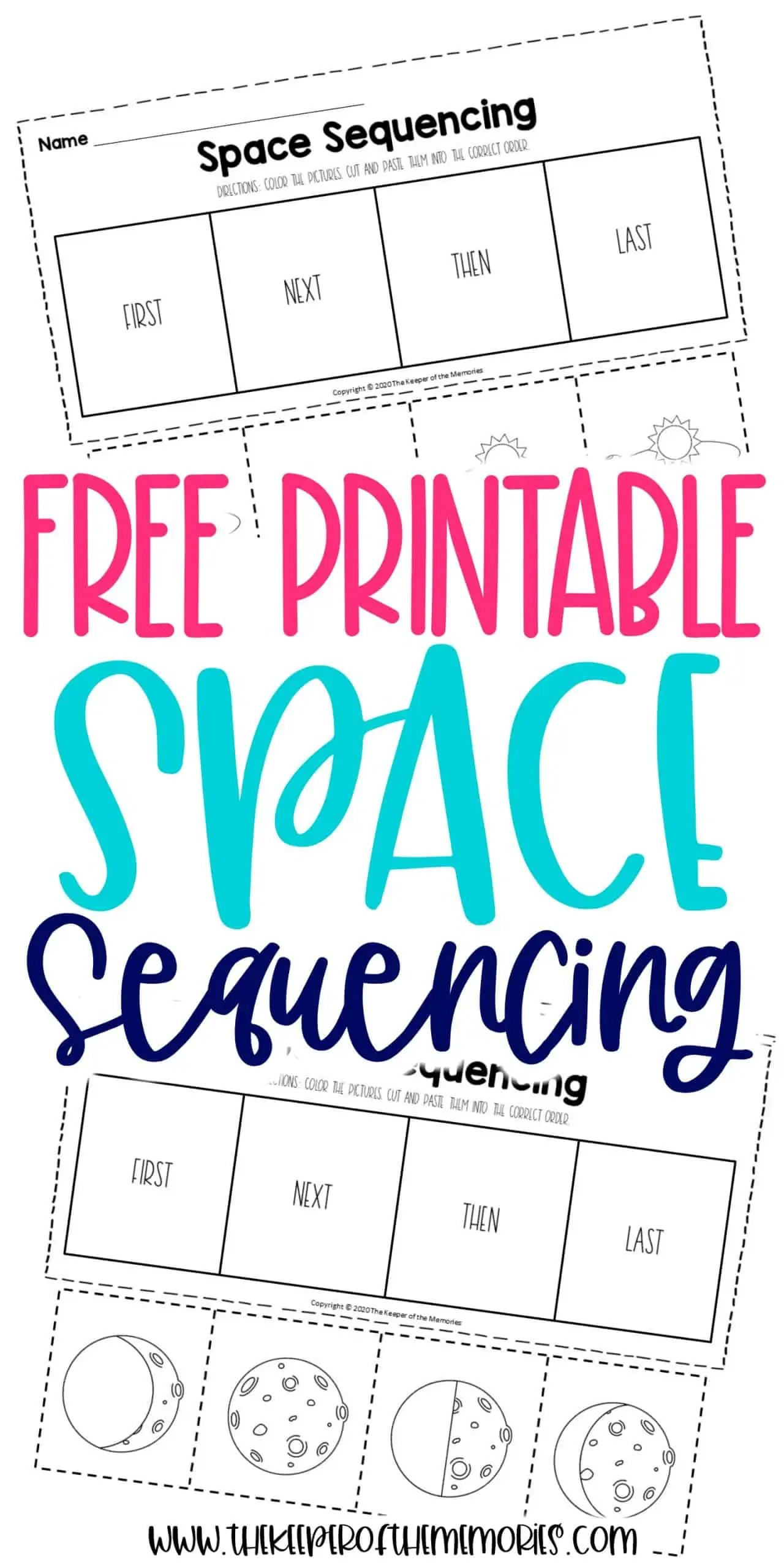 Space Sequencing Worksheets