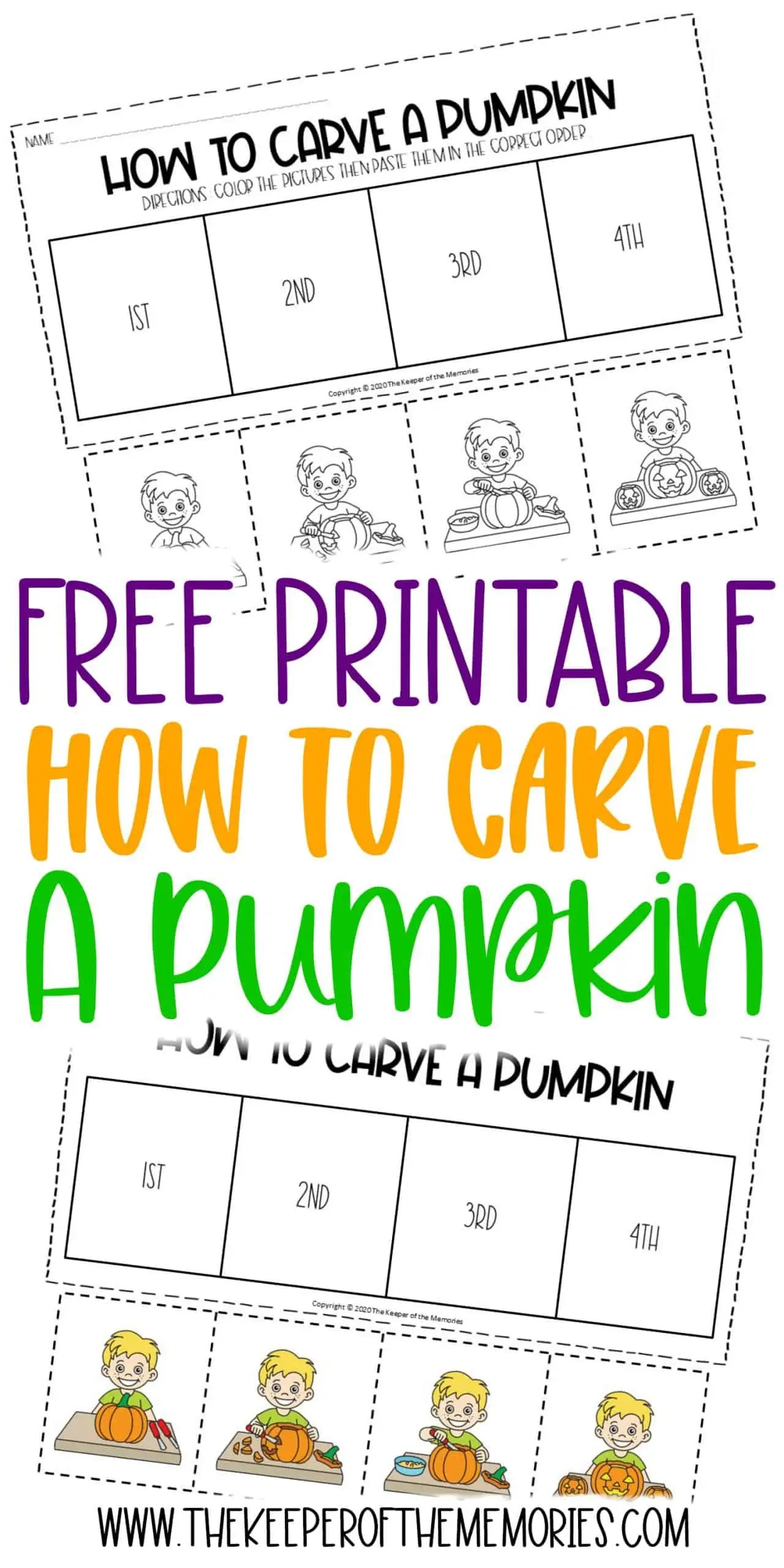 Free Printable How To Carve A Pumpkin Sequencing