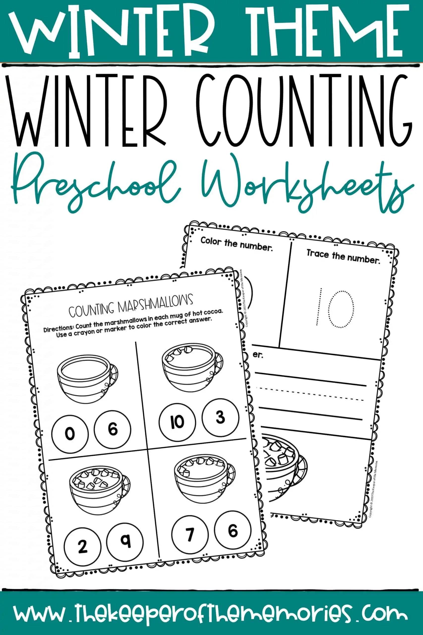 Winter Counting Preschool Worksheets
