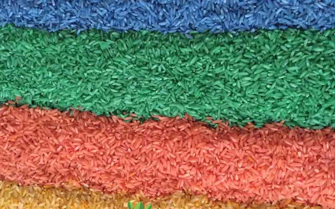 DIY Rainbow Rice