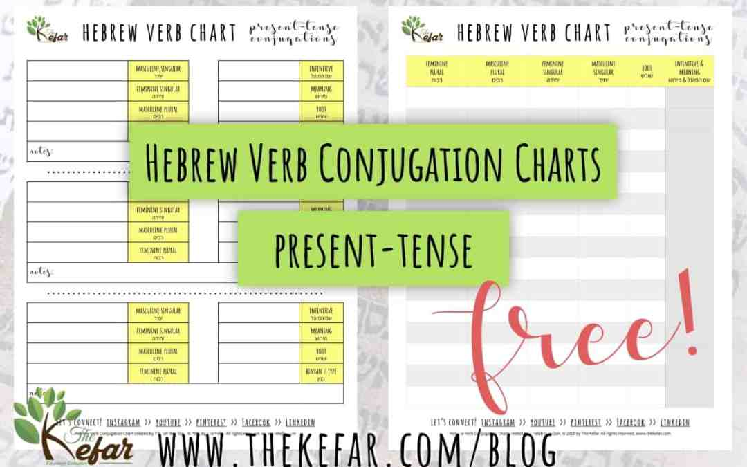 Conjugate Hebrew verbs with my FREE chart! | The Kefar