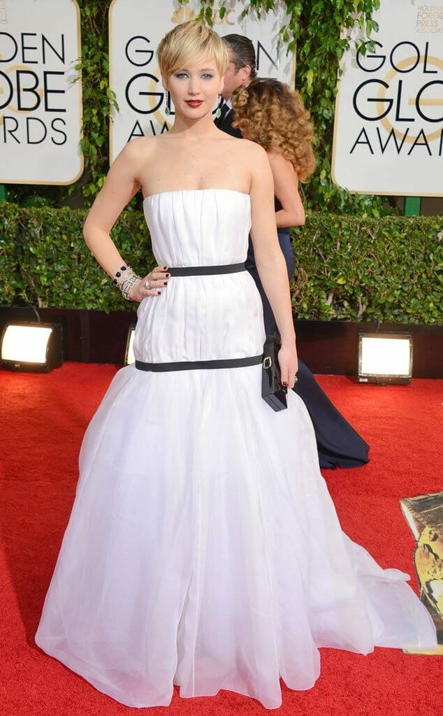 Jennifer Lawrence in Dior for the 2014 Golden Globes