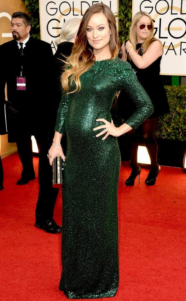 Olivia Wilde in Gucci Premiere at the 2014 Golden Globes