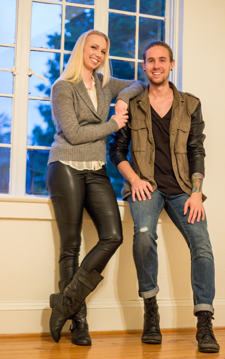 The Kentucky Gent, a men's fashion and lifestyle blogger, with one of his Unsung Heroes Lauren O'Neil in H&M Military Jacket, G-Star Tee, Levi's 511 Jeans, and Steve Madden Boots.