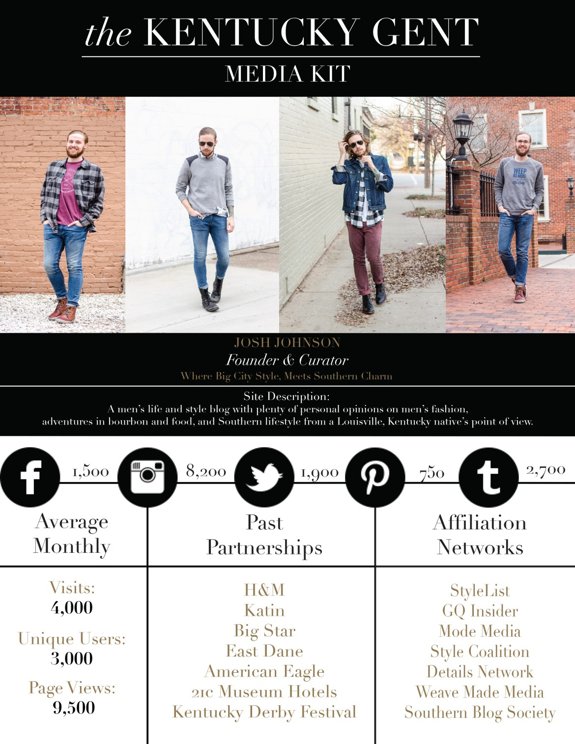 The Kentucky Gent, a men's fashion and lifestyle blogger, shares how to make a blogger media kit.