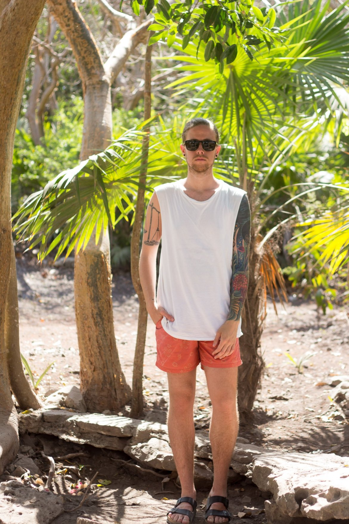 The Kentucky Gent in Tulum, Mexico wearing Katin and Topman.