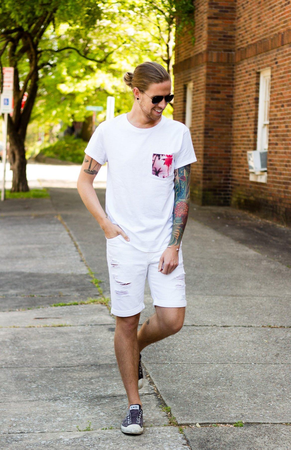 h&m, h&m summer stars now, white denim, white t-shirt, how to wear white