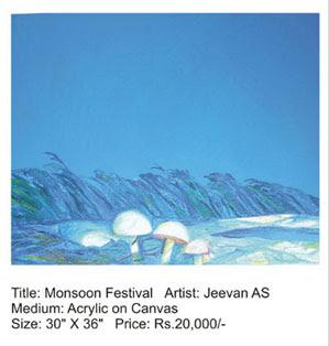 Monsoon festival painting by Jeevan AS