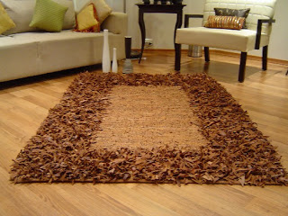 A shaggy leather rug from Artage India
