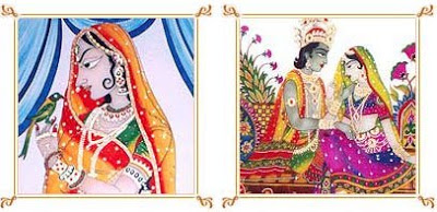 Glass painting with Moghul themes from IndianMart