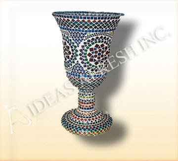 Mosaic glass vase from Ideasafresh