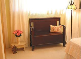 Mango wood bench from Fabindia