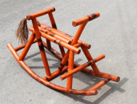 Rocking Horse in Bamboo from Alaya Designs