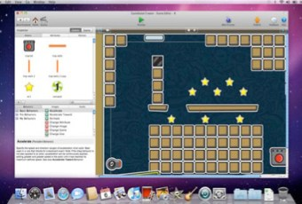This is an example of someone making a game on the GameSalad app.